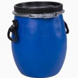 Бочка тара из пластика с крышкой на обруч 30 литров, Сургут