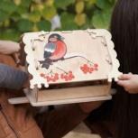 Кормушка (скворечник) для птиц с местом для декупажа, Сургут