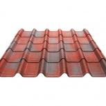 Черепица Ондувилла красный 3D 1060х400х3, Сургут
