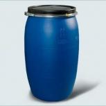 Бочка Тара пластиковая с крышкой на обруч 127 литров, Сургут